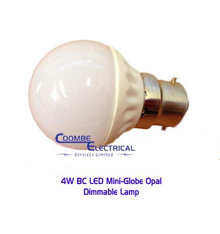 4W BC LED Mini Globe Opal