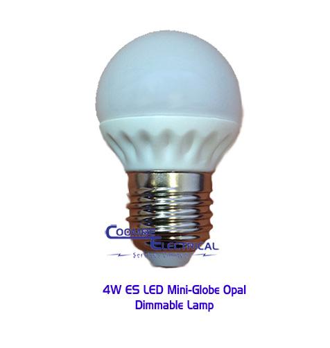 4W ES LED Mini Globe Opal