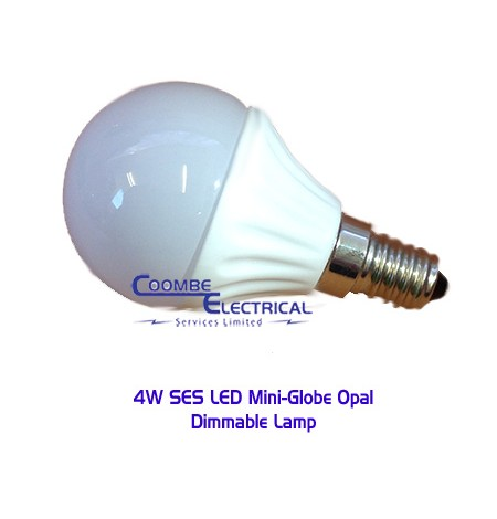 4W SES LED Mini Globe Opal