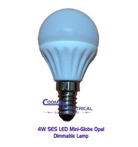 4W SES LED Mini Globe Opal