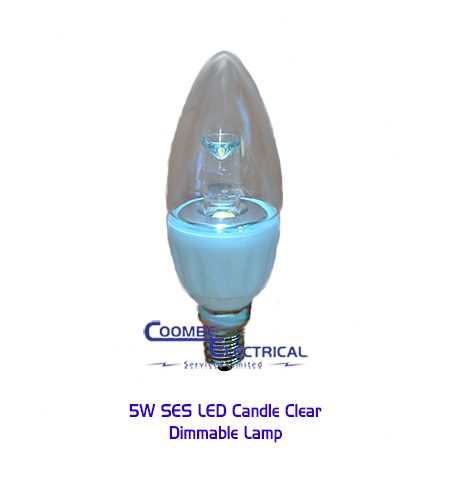 5W SES LED Candle Clear