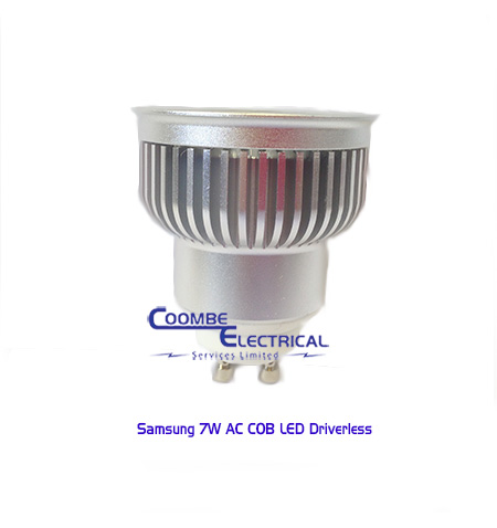 7w led ac cob gu10 driverless dimmable lamp coombe electrical. Black Bedroom Furniture Sets. Home Design Ideas