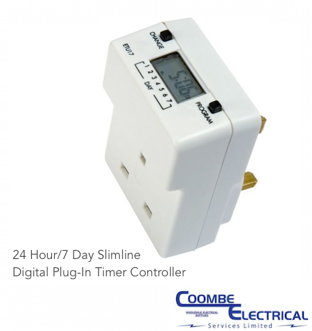 Programmable security light switch coombe electrical 24 hour7 day slimline digital plug in timer controller aloadofball Gallery
