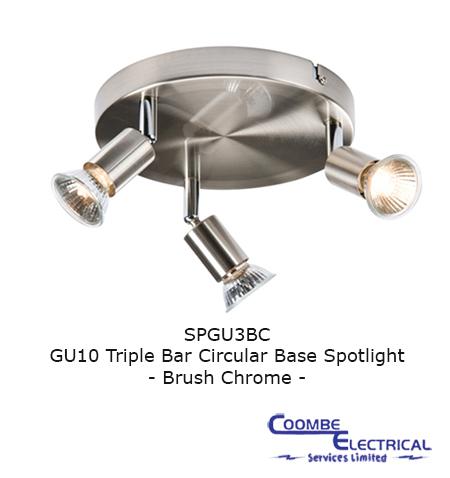 SPGU3BC GU10 Triple Spotlight