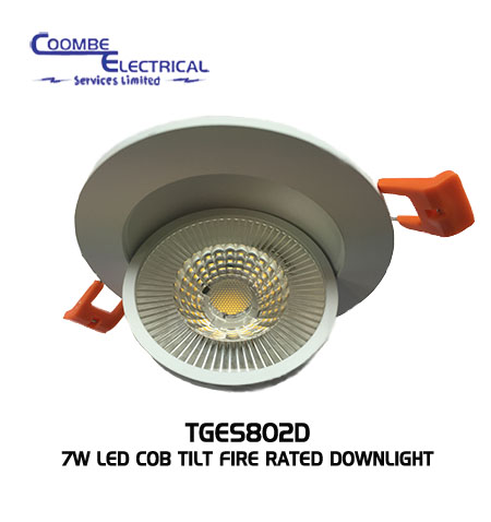 Rotatable 7W LED Ceiling Light Fire-Rated
